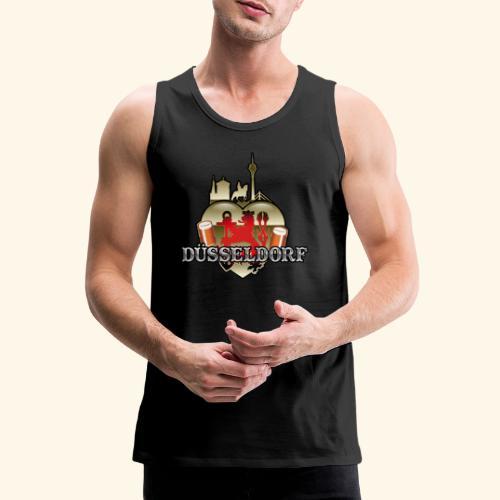Düsseldorf-T-Shirt Düsselherz - Geschenkidee! - Männer Premium Tank Top