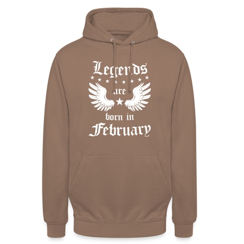 Legends are Born in February - Hoodie unisex