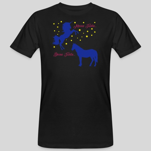Deine Tante / Meine Tante (3) - Männer Bio-T-Shirt