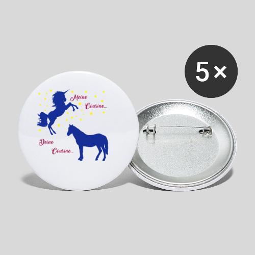 Deine Cousine / Meine Cousine (1) - Buttons klein 25 mm (5er Pack)