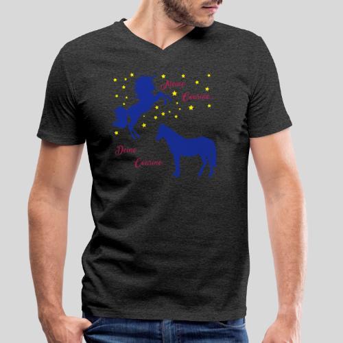 Deine Cousine / Meine Cousine (1) - Männer Bio-T-Shirt mit V-Ausschnitt von Stanley & Stella