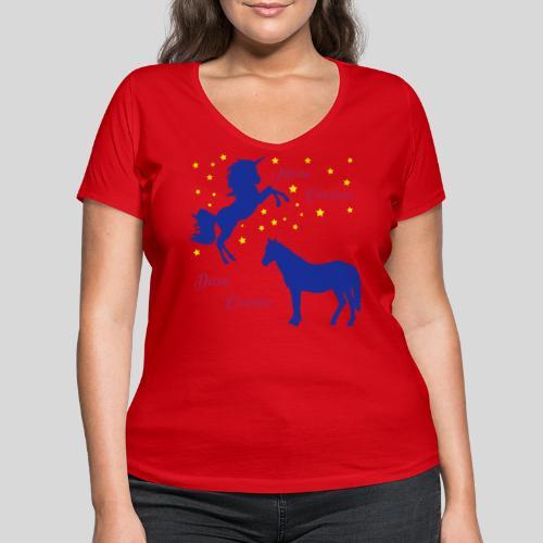 Deine Cousine / Meine Cousine (1) - Frauen Bio-T-Shirt mit V-Ausschnitt von Stanley & Stella