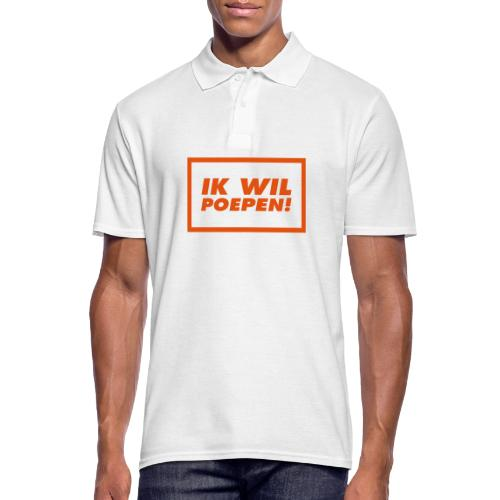 ik wil poepen! - t shirt - Polo Homme