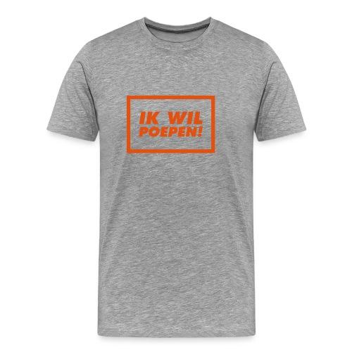 ik wil poepen! - t shirt - T-shirt Premium Homme