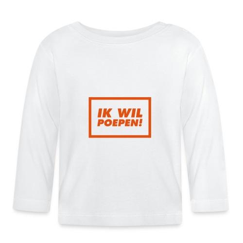 ik wil poepen! - t shirt - T-shirt manches longues Bébé