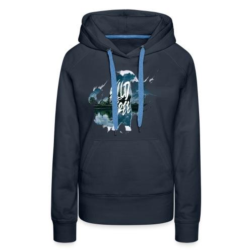 Wild & Free - Ours bleu marine - Sweat-shirt à capuche Premium pour femmes