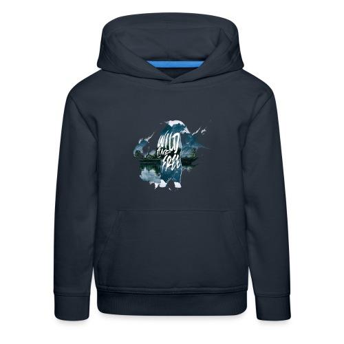 Wild & Free - Ours bleu marine - Pull à capuche Premium Enfant