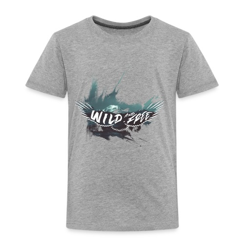 Wild & Free - Aigle gris - T-shirt Premium Enfant