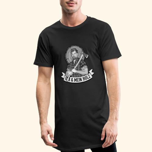 Ich und mein Holz T-Shirt für Holzfäller - Männer Urban Longshirt