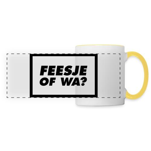 Feesje of wa? - Mug panoramique contrasté et blanc