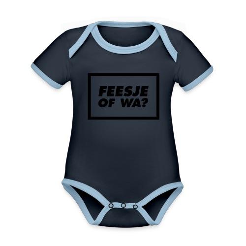 Feesje of wa? - Body Bébé bio contrasté manches courtes