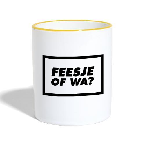 Feesje of wa? - Mug contrasté