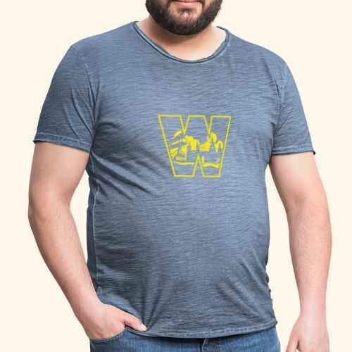 W wie Wuppertal Wahrzeichen T-Shirt - Männer Vintage T-Shirt