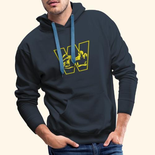 W wie Wuppertal Wahrzeichen T-Shirt - Männer Premium Hoodie