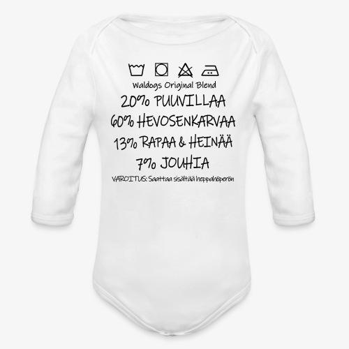 Vauvan pitkähihainen luomu-body
