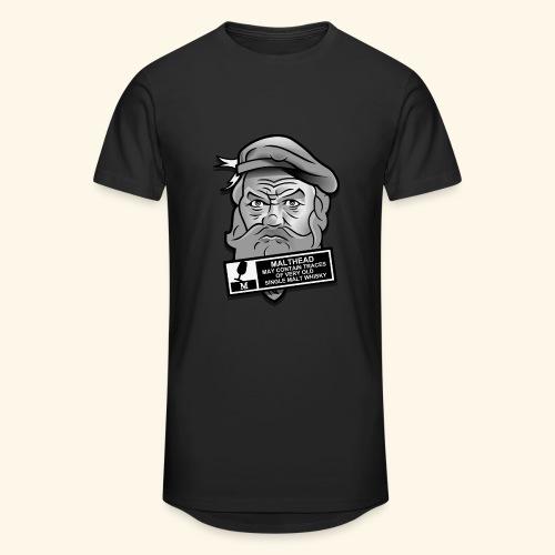 Whisky Fan T-Shirt Malthead Warning - Männer Urban Longshirt