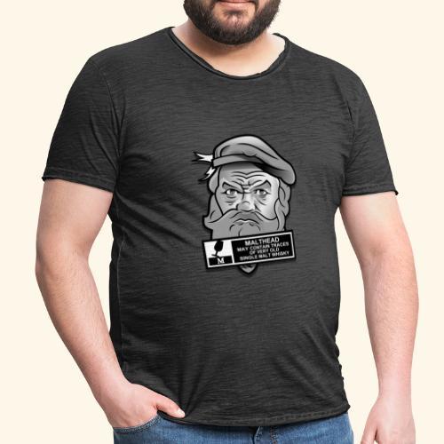 Whisky Fan T-Shirt Malthead Warning - Männer Vintage T-Shirt