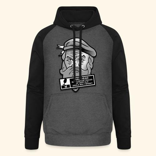 Whisky Fan T-Shirt Malthead Warning - Unisex Baseball Hoodie