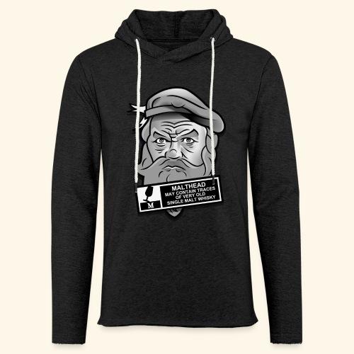 Whisky Fan T-Shirt Malthead Warning - Leichtes Kapuzensweatshirt Unisex