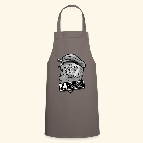 Whisky Fan T-Shirt Malthead Warning - Kochschürze