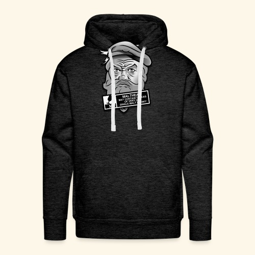Whisky Fan T-Shirt Malthead Warning - Männer Premium Hoodie