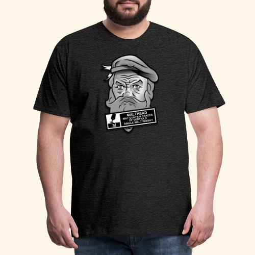 Whisky Fan T-Shirt Malthead Warning - Männer Premium T-Shirt
