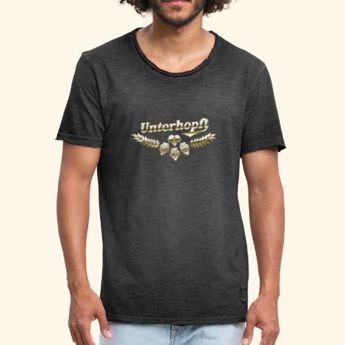 Unterhopft T-Shirts lustiger Spruch für Biertrinker - Männer Vintage T-Shirt