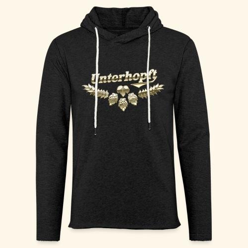 Unterhopft T-Shirts lustiger Spruch für Biertrinker - Leichtes Kapuzensweatshirt Unisex