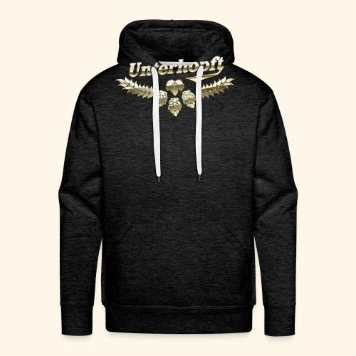 Unterhopft T-Shirts lustiger Spruch für Biertrinker - Männer Premium Hoodie