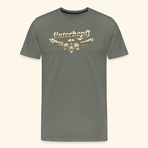 Unterhopft T-Shirts lustiger Spruch für Biertrinker - Männer Premium T-Shirt