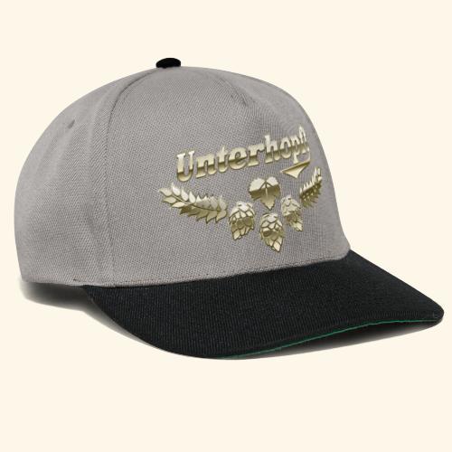 Unterhopft T-Shirts lustiger Spruch für Biertrinker - Snapback Cap