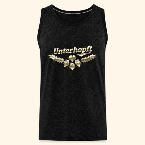 Unterhopft T-Shirts lustiger Spruch für Biertrinker - Männer Premium Tank Top