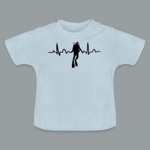 Taucher Herzkurve - Baby T-Shirt