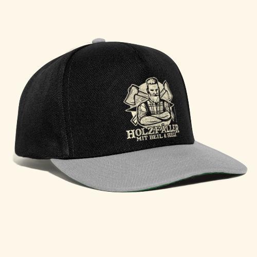 Holzfäller Sprüche-T-Shirt Mit Beil und Seele - Snapback Cap