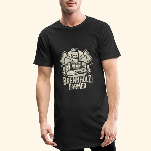 Holzfäller Sprüche-T-Shirt Brennholzfarmer - Geschenkidee - Männer Urban Longshirt