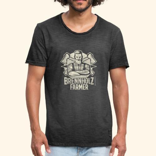 Holzfäller Sprüche-T-Shirt Brennholzfarmer - Geschenkidee - Männer Vintage T-Shirt