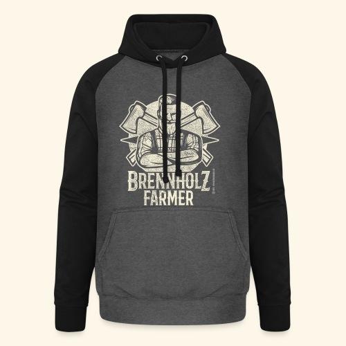 Holzfäller Sprüche-T-Shirt Brennholzfarmer - Geschenkidee - Unisex Baseball Hoodie