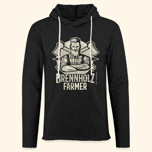 Holzfäller Sprüche-T-Shirt Brennholzfarmer - Geschenkidee - Leichtes Kapuzensweatshirt Unisex