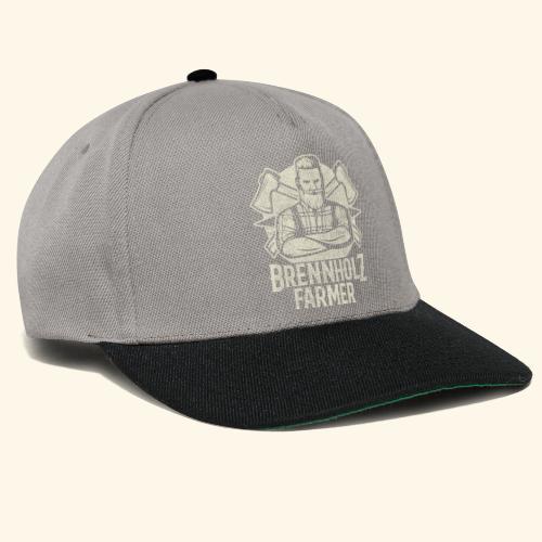 Holzfäller Sprüche-T-Shirt Brennholzfarmer - Geschenkidee - Snapback Cap