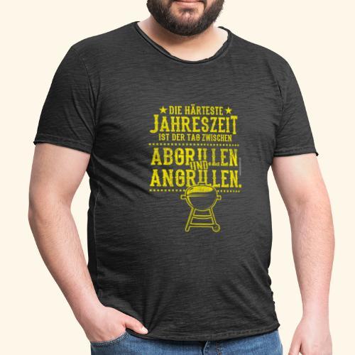 Grill-T-Shirt Grillsaison Abgrillen Angrillen - Männer Vintage T-Shirt