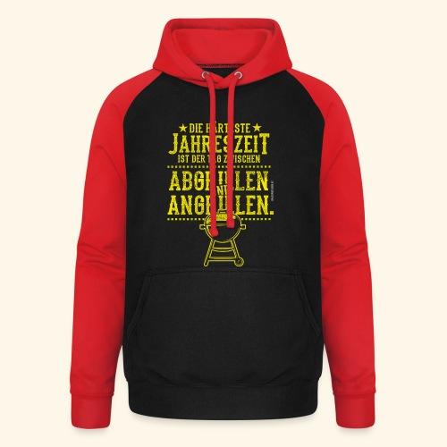 Grill-T-Shirt Grillsaison Abgrillen Angrillen - Unisex Baseball Hoodie