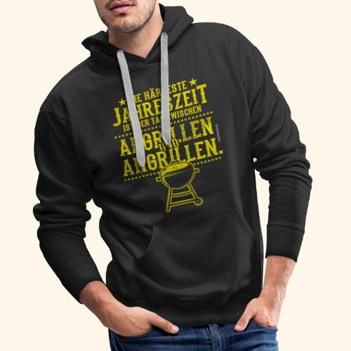 Grill-T-Shirt Grillsaison Abgrillen Angrillen - Männer Premium Hoodie