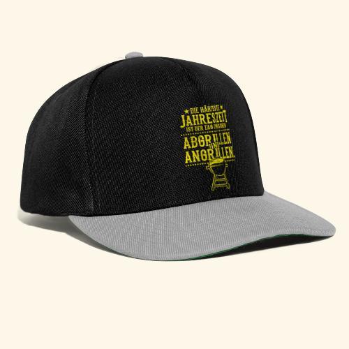 Grill-T-Shirt Grillsaison Abgrillen Angrillen - Snapback Cap