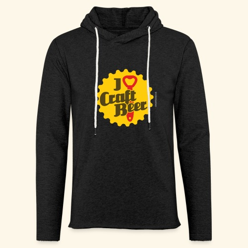 Craft Beer T-Shirt Design I Love Craft Beer - Leichtes Kapuzensweatshirt Unisex