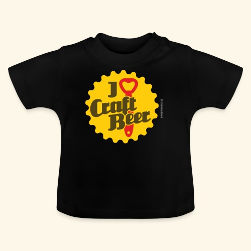 Craft Beer T-Shirt Design I Love Craft Beer - Baby T-Shirt