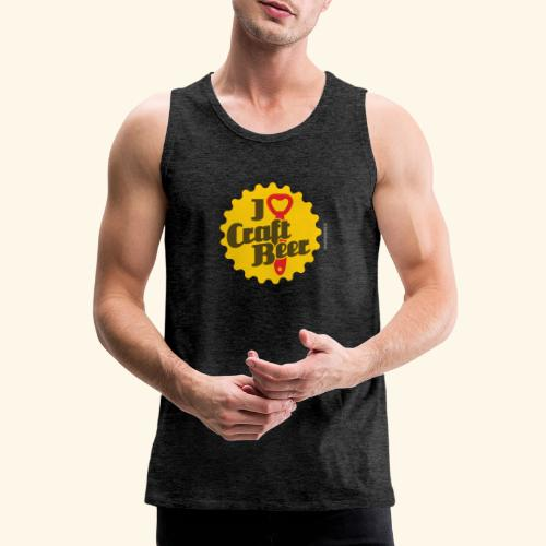 Craft Beer T-Shirt Design I Love Craft Beer - Männer Premium Tank Top