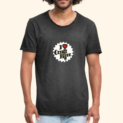 Craft Beer T-Shirt Design I Love Craft Beer - Männer Vintage T-Shirt