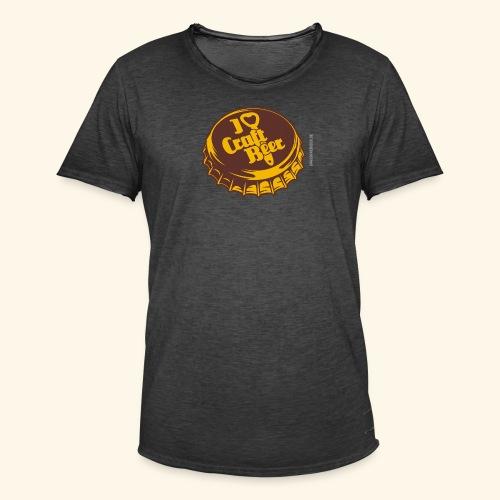 Craft Beer T-Shirt Design für Bier-Liebhaber - Männer Vintage T-Shirt