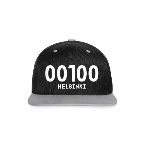 00100 HELSINKI - Kontrastivärinen snapback-lippis