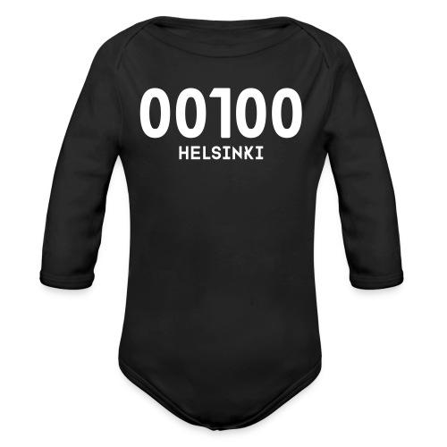 00100 HELSINKI - Vauvan pitkähihainen luomu-body
